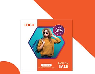Fashion Sale Social Media Post Banner