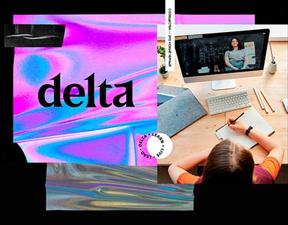 Delta: LMS Platform branding and website
