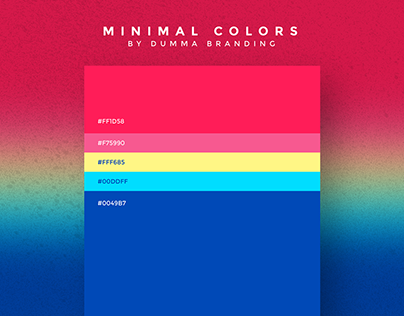 Minimalist Color Palettes are back