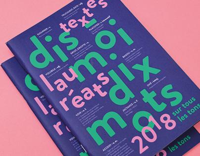 DIS-MOI DIX MOTS - Livret textes lauréats