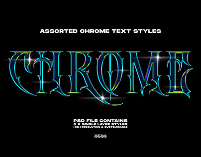 Chrome Text Styles 2.0 — byDBDS®