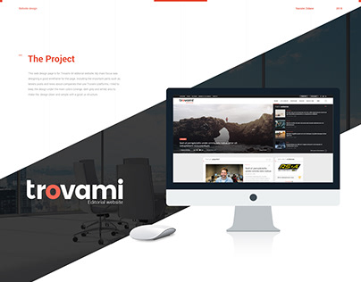 Trovami editorial - Website design