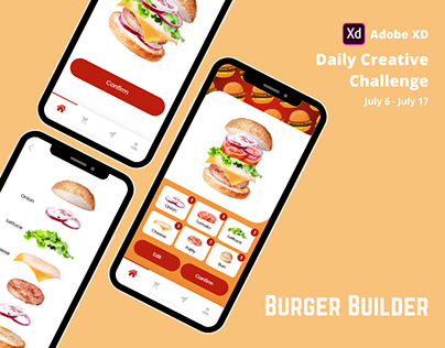XD Daily Creative Challenge Day 1 : Burger Builder