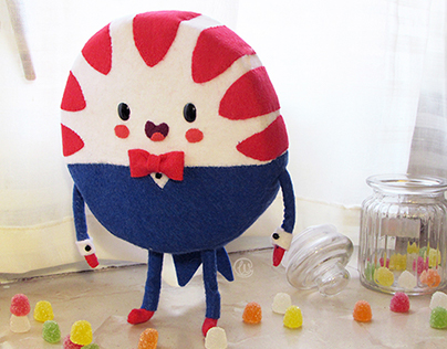 Peppermint butler from Adventure Time tribute art toy