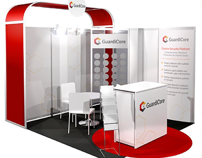 Exhibition Graphics: GuardiCore Les Assises 2017 Booth
