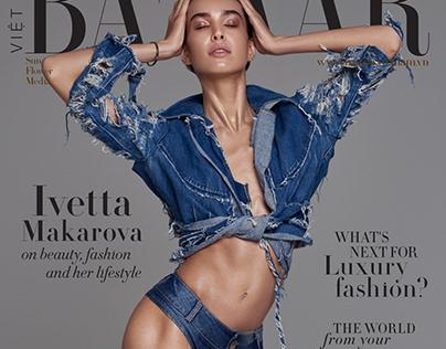 Denim Cover of Harpers Bazaar Vietnam May 2020