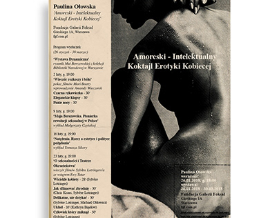 Poster for an exhibition at Foksal Gallery Foundation