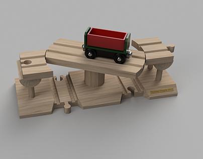 Wooden Train Swing Bridge