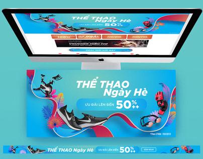 Tiki - Thể Thao Ngày Hè Landing page