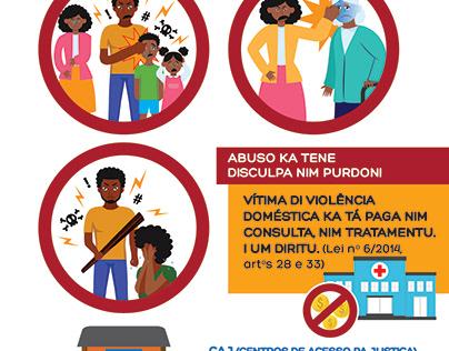 Poster domestic violence - Guinea-Bissau