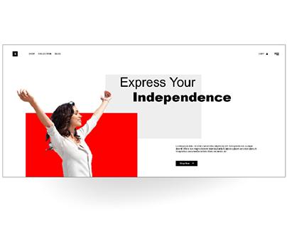 Landing page UI HTML&CSS