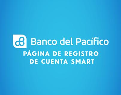 Página de Registro Cuenta Smart - BdP