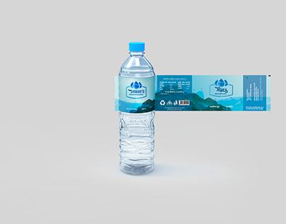 SHIMANTO WATER BOTTLE LABEL