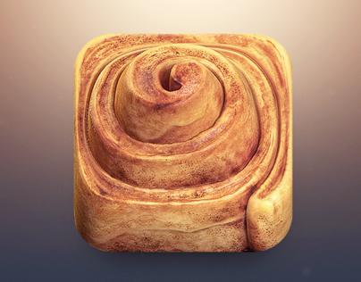 Cinnamon Roll App Icon