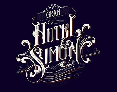 Gran Hotel Simon. Lettering