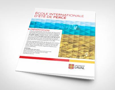 École internationale d'été de Percé - Leaflet