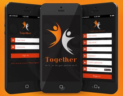 Together Application - Flat UI