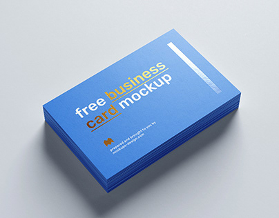 Free foil business card mockup