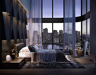 Bedroom visualization NY Inspired by Stab Studio