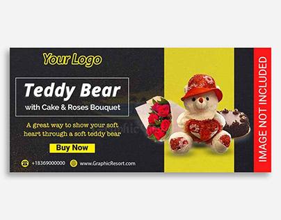 Get Free Teddy Bear social Banner