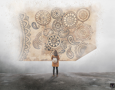 Composting | Digital Art : Her Love for Mandalas.