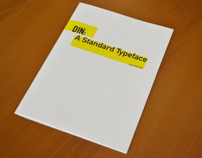 DIN: A Standard Typeface Book
