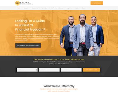 Aureus Financial -Wordpress Website