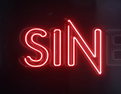 LMN 'SINEMA' neon identity