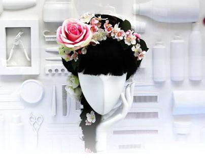 Window Display for Studio Hair and Beauty, London