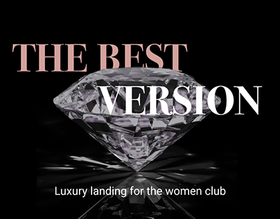 Luxury landing page