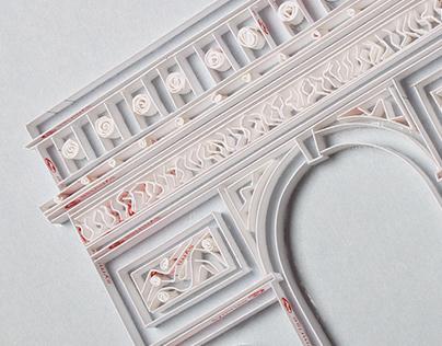 Papercraft Arc de Triomphe for Symrise