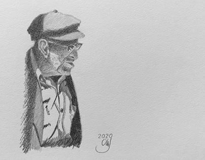 Pencil Drawing man