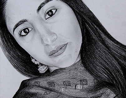 THE INNOCENCE BEAUTY - Pencil & Charcoal Sketch - Kamal