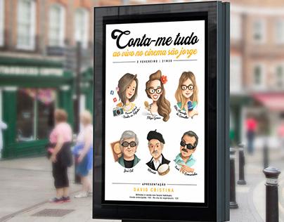 Poster Design & Illustration: CONTA-ME TUDO AO VIVO
