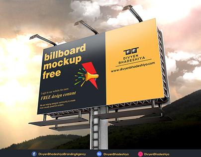 Free PSD - Billboard Mockup 4