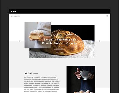 Eva's Bakery Website Redesign