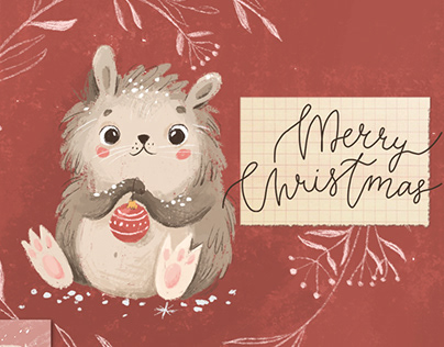 Christmas cards with animals