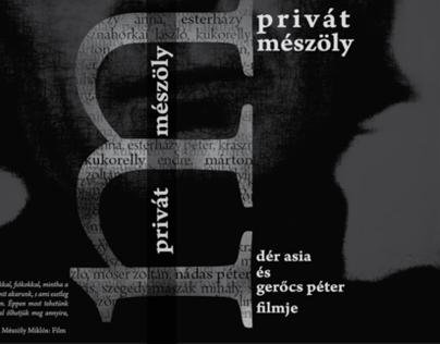 Private Mészöly - documentary, Budapest 2011