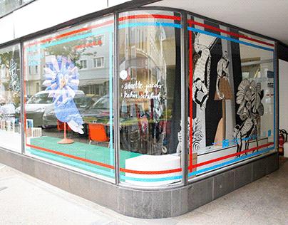 Shop window illustration