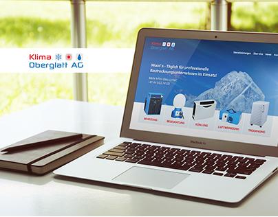 Klima Oberglatt - Website Redesign