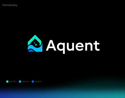 aqua home modern logo design