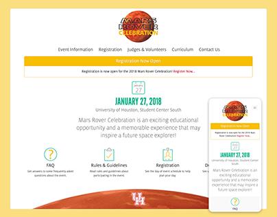 Mars Rover Celebration Website