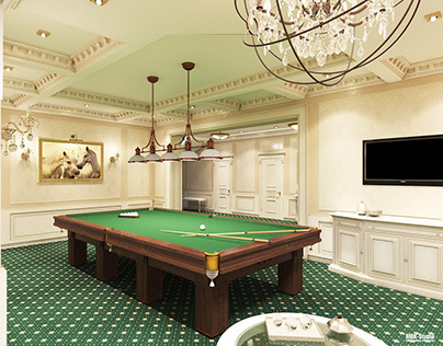 Classic interior / billiardroom / Private house 570.0m²