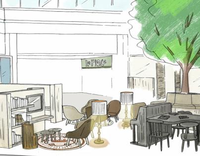Interior Free-hand Sketches part2