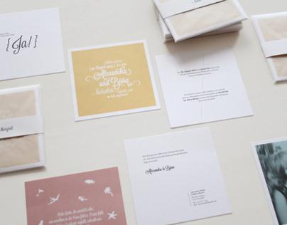 Alex & Björn - Wedding invitation