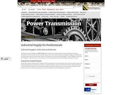 Industrial Supply Website Design