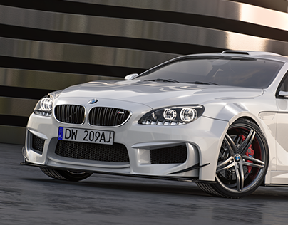 BMW M6 rendering project