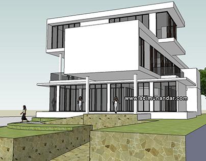Desain Arsitektur Moderen Villa di Trawas