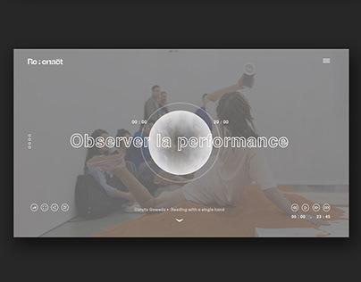 Reenact, The Performance Art Archives - Branding/ UxUi