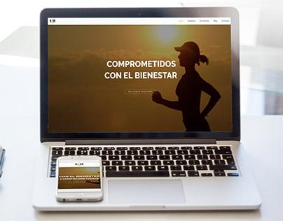 Website design for runners club